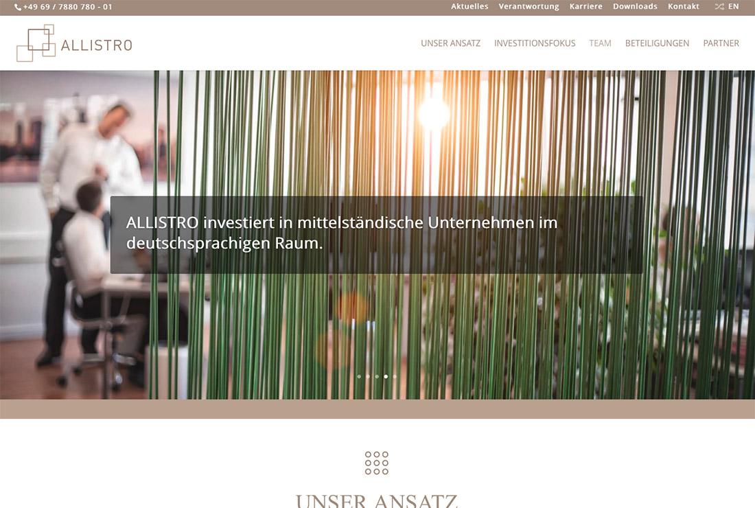 Allistro-Homepage