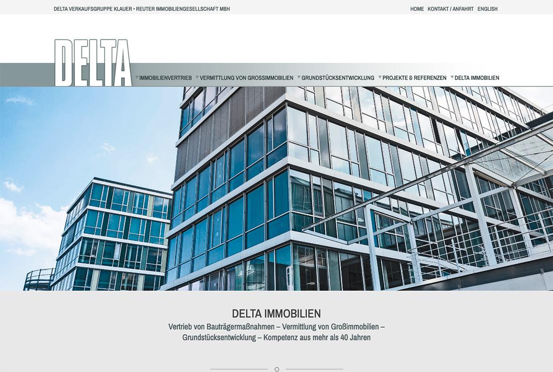 DELTA Immobilien – Homepage