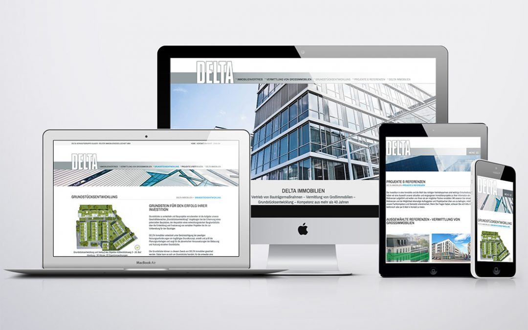 DELTA Immobilien: Website