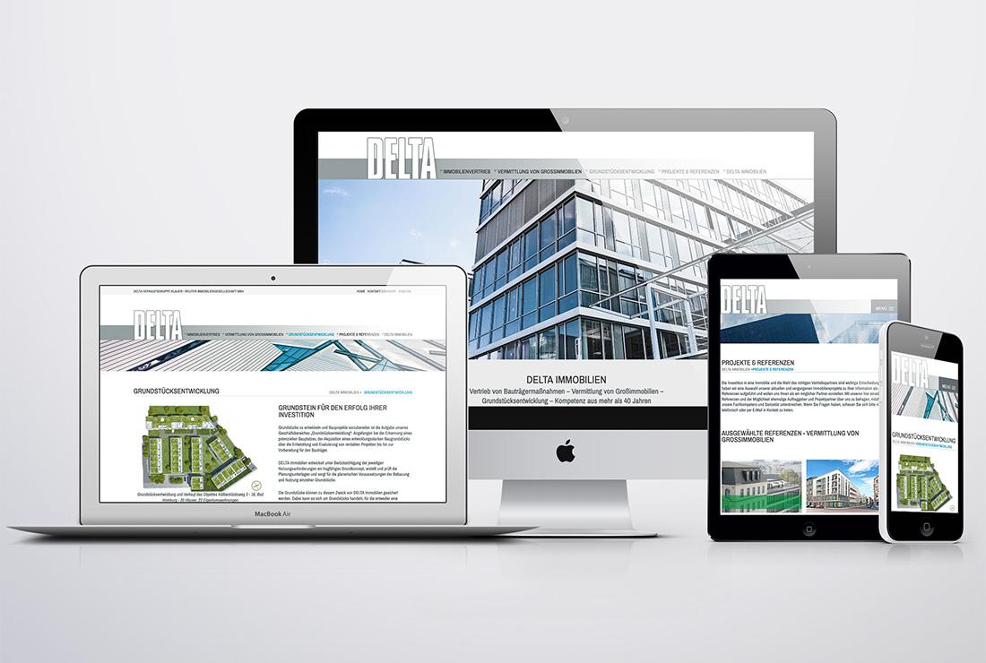 DELTA Immobilien – Responsive Website
