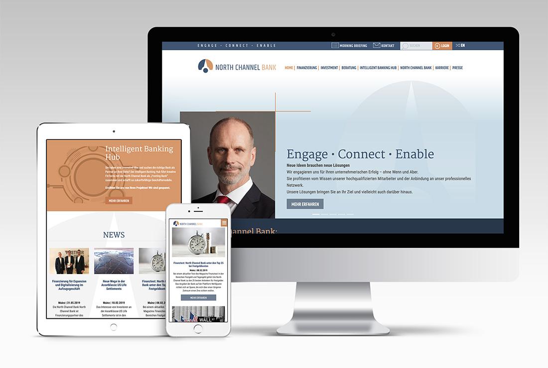 North Channel Bank – Responsive Webdesign