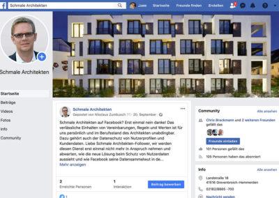 Schmale Architekten: Facebook Markenseite