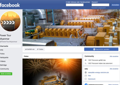 Caterpillar Energy Solutions – Facebook Markenseite