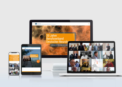 20 Jahre BDN: Eine Kampagnenwebsite